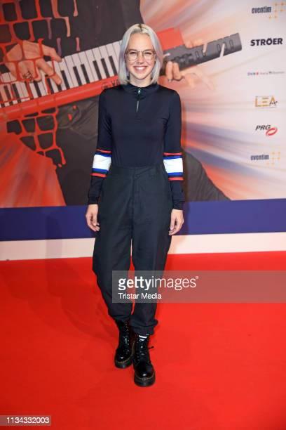 Stefanie Heinzmann attends the PRG LEA Live Entertainment Award 2019 at Festhalle on April 1 2019 in Frankfurt am Main Germany