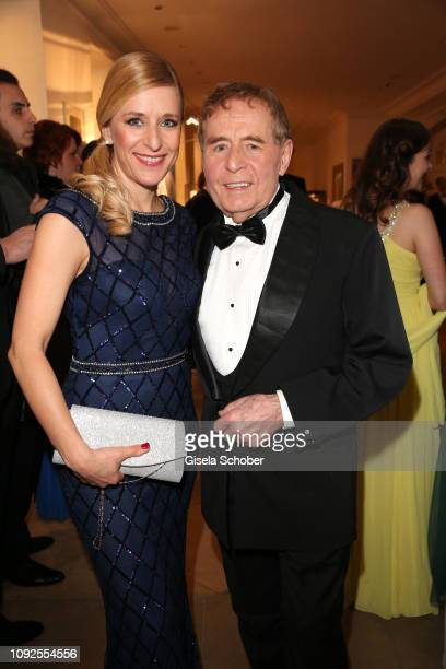 Stefanie Hertel and her father Eberhard Hertel during the Semper Opera Ball 2019 reception at the Taschenbergpalais near Semperoper on February 1,...