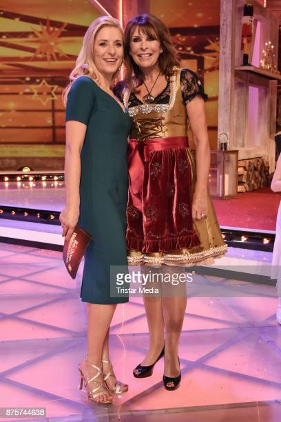 Stefanie Hertel and Ireen Sheer during the Stefanie Hertel Show 'Die grosse Show der Weihnachtslieder' on November 17 2017 in Suhl Germany