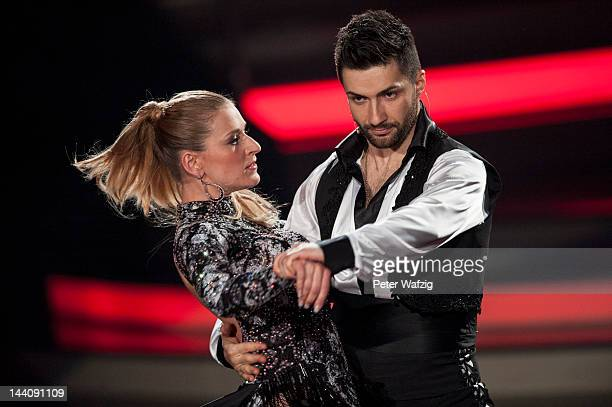 Stefanie Hertel and Sergiy Plyuta perform during 'Let's Dance' 9th Show on May 09 2012 in Cologne Germany