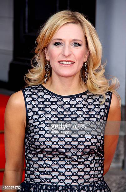 Stefanie Hertel attends the premiere for the musical 'Chicago' at Theater des Westens on October 11 2015 in Berlin Germany