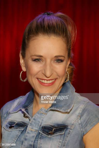 Stefanie Hertel during the TV Show 'Meine Schlagerwelt Die Party' hosted by Ross Antony on January 30 2018 in Leipzig Germany