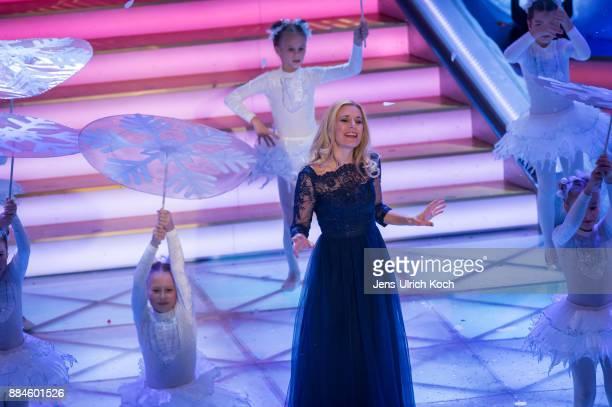 Stefanie Hertel performs at 'Das Adventsfest der 100000 Lichter' TV show on December 02 2017 in Suhl Germany