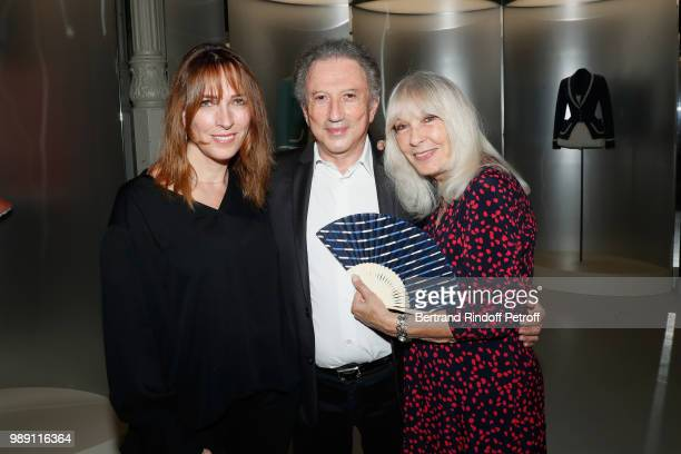 Stefanie Jarre her mother Dany Saval and Michel Drucker attend L'Alchimie secrete d'une collection The Secret Alchemy of a Collection Exhibition...