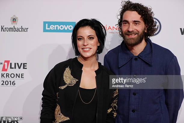 Stefanie Kloss and Andreas Nowak of Silbermond attend the 1Live Krone at Jahrhunderthalle on December 1 2016 in Bochum Germany