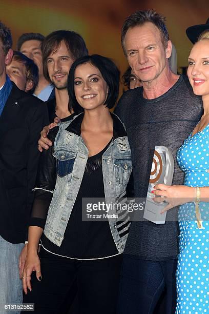 Stefanie Kloss of Silbermond and Gordon Sumner of Sting attend the Deutscher Radiopreis 2016 on October 6 2016 in Hamburg Germany