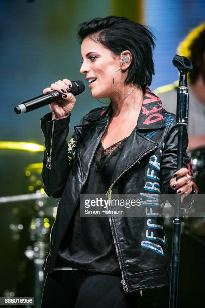 Stefanie Kloss of Silbermond performs during the Radio Regenbogen Award 2017 at Europapark on April 7 2017 in Rust Germany