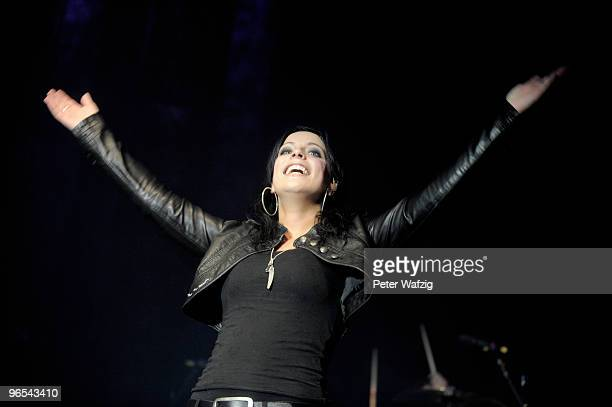 Stefanie Kloss of Silbermond performs on stage at the Palladium on November 21 2009 in Cologne Germany