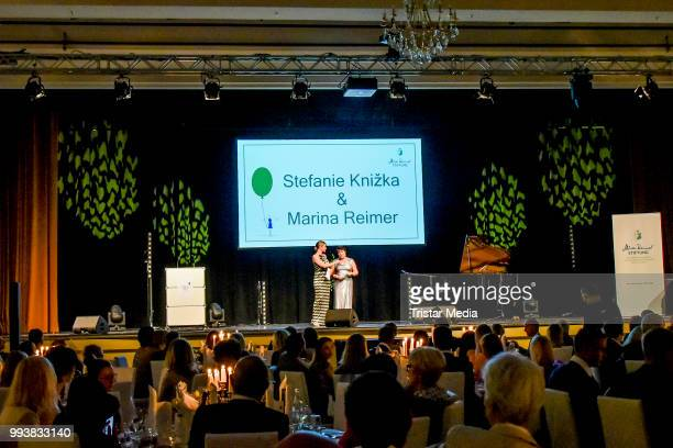 Stefanie Knizka and Marina Reimer during the Aline Reimer Foundation Gala on July 7 2018 in Berlin Germany