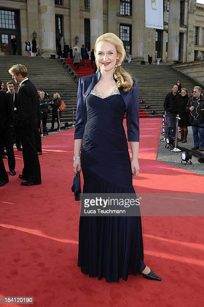 Stefanie Lehmann attends the Echo Klassik 2012 award ceremony at Konzerthaus on October 14, 2012 in Berlin, Germany.