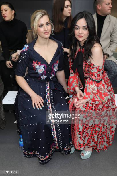 Stefanie Martini and Hayley Squires attend the Temperley London show during London Fashion Week February 2018 at on February 18 2018 in London England