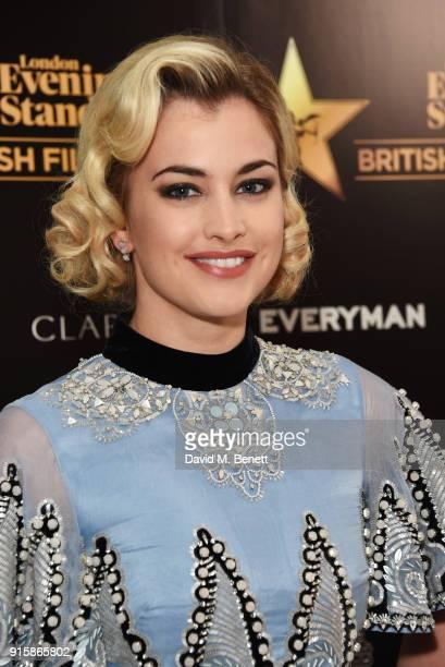 Stefanie Martini arrives at the London Evening Standard British Film Awards 2018 at Claridge's Hotel on February 8 2018 in London England