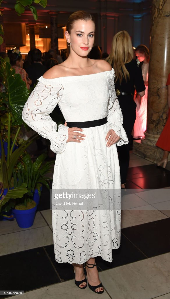 Stefanie Martini attends a private view of 'Frida Kahlo: Making Her Self Up' at The V&A on June 13, 2018 in London, England.