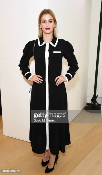 Stefanie Martini attends the Emilia Wickstead front row during London Fashion Week September 2018 at the Phillips Gallery on September 17 2018 in...