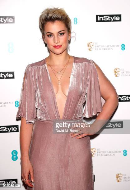 Stefanie Martini attends the InStyle EE Rising Star Party Ahead Of The EE BAFTAs at Granary Square on February 6 2018 in London England