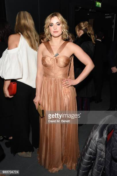 Stefanie Martini attends the Rakuten TV EMPIRE Awards 2018 cocktail reception at The Roundhouse on March 18 2018 in London England