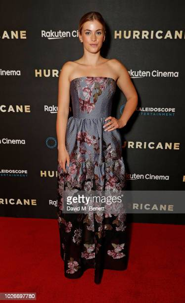 Stefanie Martini attends the UK Premiere of 'Hurricane' at Vue Leicester Square on September 4 2018 in London England