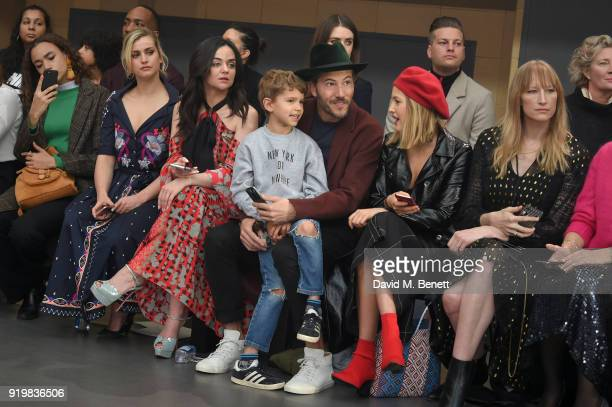 Stefanie Martini Hayley Squires Boniface VerneyCarron Nikko Muse Tess Ward and Jade Parfitt attend Temperley London Fashion Show Fall/Winter 18...