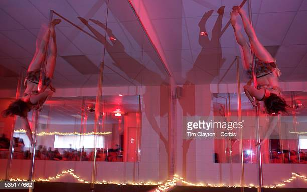 Stefanie Meier pole dancing during the Queenstown Pole Studios end of year show at the Queenstown Pole Studio Gorge Road Queenstown South Island New...