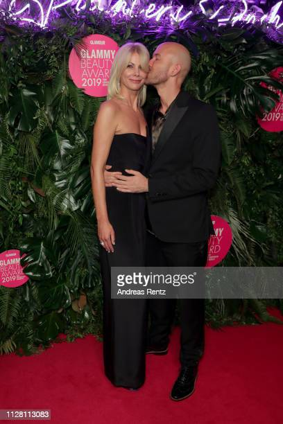Stefanie Neureuter, Beauty Director Glamour, and Constantin Herrmann at the Glammy Award on February 07, 2019 in Munich, Germany.