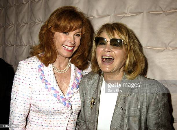 Stefanie Powers and Angie Dickinson during Pacific Pioneer Broadcasters Honor Hollywood Mayor Johnny Grant at Sportsman's Lodge in Studio City CA...