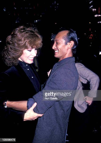 Stefanie Powers and Bobby To during Natural's Press Conference October 9 1982 at Regine's in New York City New York United States