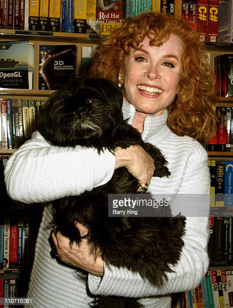 Stefanie Powers and Bounce during Stephanie Powers Signs Copies of her new book 'Power Pilates' April 11 2005 at Borders Sherman Oaks in Sherman Oaks...
