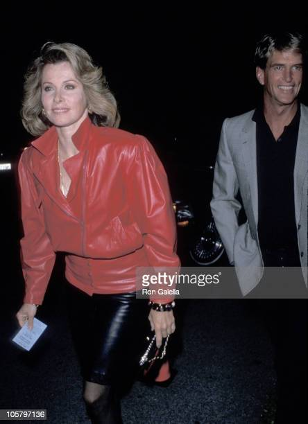 Stefanie Powers and date during Elton John's Manager's Birthday Party September 9 1989 at Beverly Hills in Beverly Hills California United States