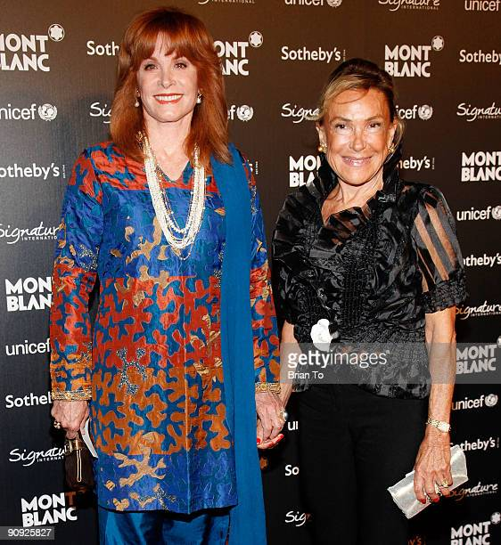 Stefanie Powers and Francesca Bowyer attend Montblanc Celebrity Auction And Dinner Benefitting UNICEF at Four Seasons Hotel on September 17 2009 in...