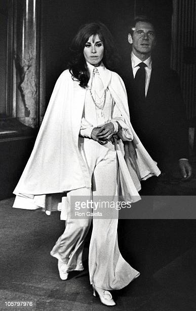Stefanie Powers and JeanPaul Aument during Stefanie Powers Sighting in New York City November 8 1968 in New York City New York United States