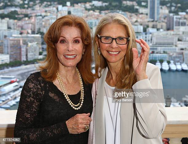 Stefanie Powers and Lindsay Wagner attend Cocktail Reception at the Ministere d'Etat on June 15 2015 in MonteCarlo Monaco