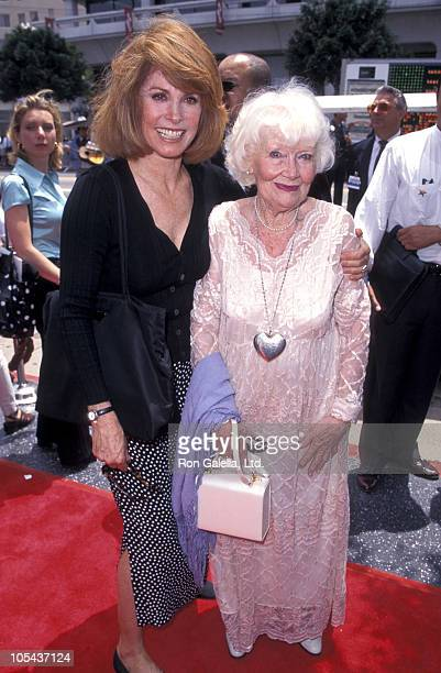Stefanie Powers and Penny Singleton during Johnny Grant Honored With A Hand and Footprint Ceremony May 12 1997 at Mann's Chinese Theater in Hollywood...