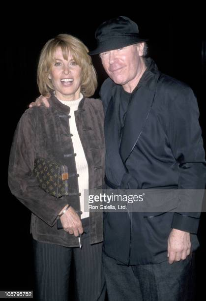 Stefanie Powers and Stanley Jordan during 'Deja Vu' Premiere April 13 1998 at Director's Guild of America Theater in Los Angeles California United...