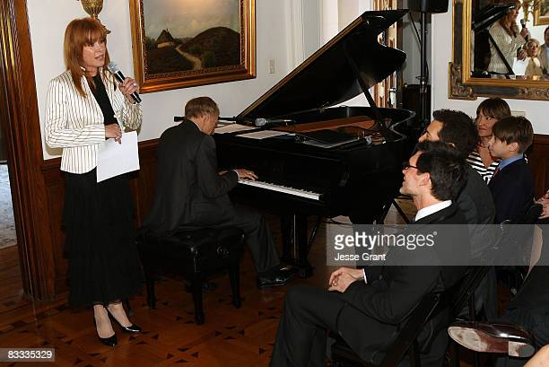 Stefanie Powers attends the wedding of Michael Feinstein and Terrence Flannery held at a private residence on October 17 2008 in Los Angeles...