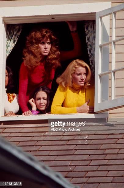 Stefanie Powers, Denise Nicholas, Anjanette Comer, Julie Sommars appearing in the Walt Disney Television via Getty Images tv movie 'Five Desperate...