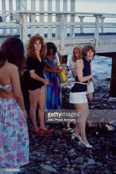 Stefanie Powers, Denise Nicholas, Julie Sommars, extras appearing in the Walt Disney Television via Getty Images tv movie 'Five Desperate Women'.