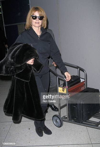 Stefanie Powers during Stefanie Powers Sighting at the Los Angeles International Airport Novmeber 21 1998 at Los Angeles International Airport in Los...