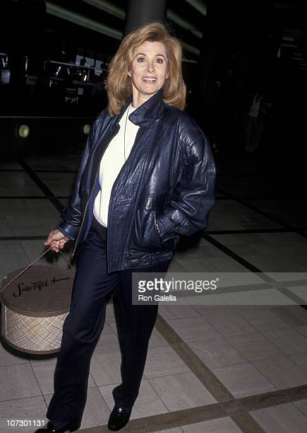 Stefanie Powers during Stefanie Powers Sighting at the Los Angeles International Airport December 27 1992 at Los Angeles International Airport in Los...