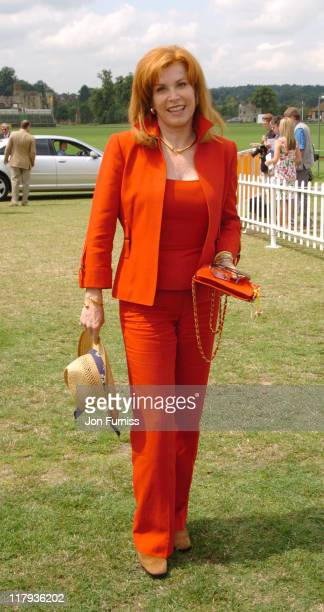 Stefanie Powers during Veuve Clicquot Polo Gold Cup Final July 18 2004 at Cowdry Park in West Sussex Great Britain