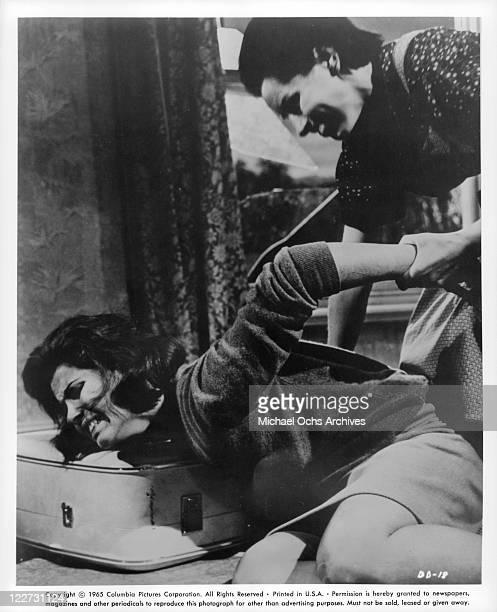 Stefanie Powers is grabbed by Yootha Joyce in a scene from the film 'Die Die My Darling' 1965