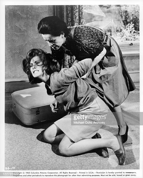 Stefanie Powers is grabbed by Yootha Joyce in a scene from the film 'Die Die My Darling' 1965