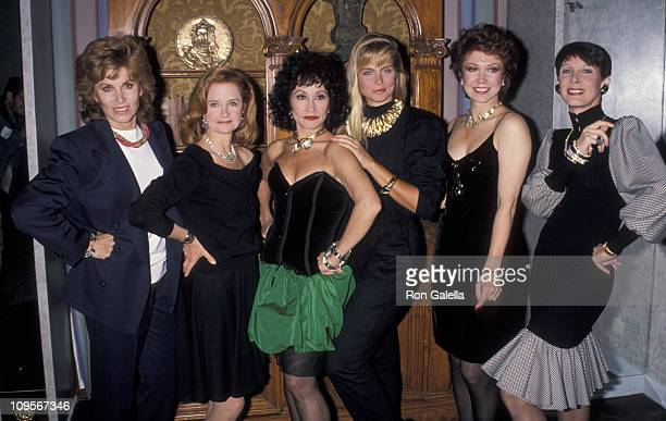 Stefanie Powers Kim Alexis and models during Diamond International Collection May 3 1990 at New York Hilton Hotel in New York City New York United...