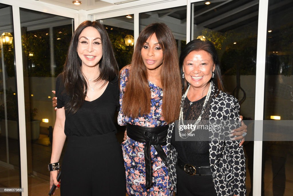 Stefanie Renoma Mia Frye and Paris 8th district mayor Jeanne D'Hauteserre attend 'Ulugh Beg The Man Who Unlocked the Universe ' Screening Cocktail at Club 13 and Dinner at Hotel Hoche on June 21, 2017 in Paris, France.