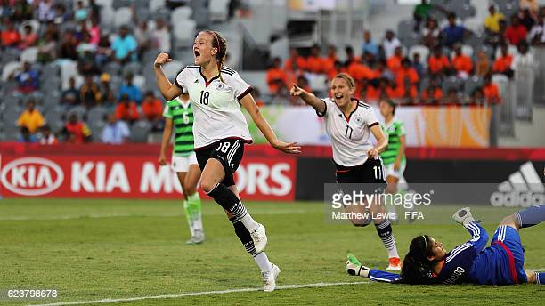 Stefanie Sanders of Germany celebrates her goal during the FIFA U20 Women's World Cup Papua New Guinea 2016 Group D match between Germany and Mexico...