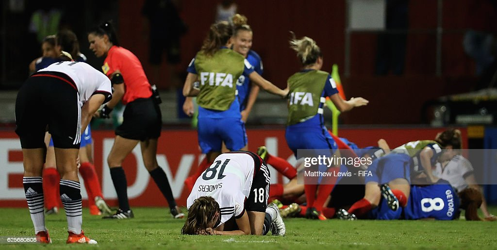 Stefanie Sanders of Germany looks on after her team lost to France during the FIFA U-20 Women's World Cup Papua New Guinea 2016 Quarter Final match between Germany and Fra