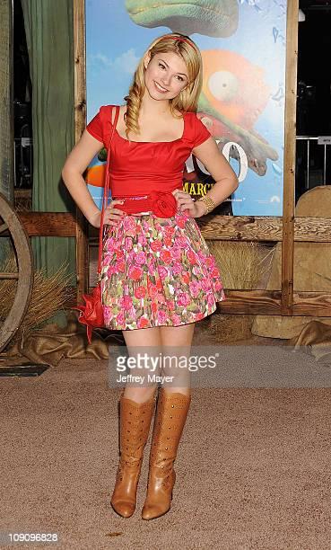 Stefanie Scott arrives at the Los Angeles premiere of 'Rango' held at Regency Village Theatre on February 14 2011 in Westwood California