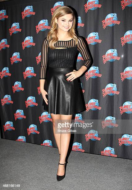 Stefanie Scott promotes Disney Channel's ANT Farm as she visits Planet Hollywood Times Square on February 8 2014 in New York City