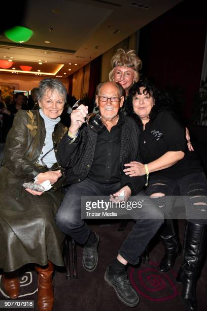 Stefanie Simon, Herbert Koefer and Heike Knochee during the Public Viewing Of the TV Show 'Ich bin ein Star - Holt mich hier raus!' on January 19,...
