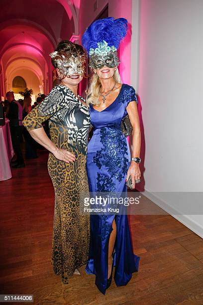 Stefanie Strasburger and Marion Vedder attend the Bal Masque 2016 on February 20 2016 in Hamburg Germany