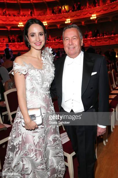 Stefanie Stumph and Roland Kaiser during the Semper Opera Ball 2018 at Semperoper on January 26 2018 in Dresden Germany